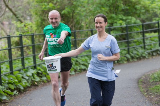 Wes Dennehy, Watergrass Hill Athletics Club and Louise Buckley, Upper GI Cancer CNM2, The Mercy University Hospital, are encouraging both individuals and teams to join #TeamMercy for the Cork City Marathon on June 6th, and be part of the race against cancer in Munster. Funds raised will go towards the Mercy Cancer Appeal, which aims to raise €1.5 million by 2017 to fund key services and advancements in the treatment of, and research into many cancers.